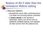 restore of ad if older than the tombstone lifetime setting