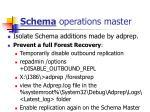 schema operations master