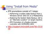 using install from media
