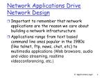network applications drive network design