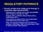 regulatory pathways