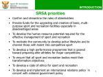 srsa priorities