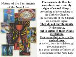 nature of the sacraments of the new law
