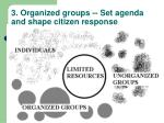 3 organized groups set agenda and shape citizen response