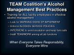 team coalition s alcohol management best practices