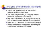 analysis of technology strategies