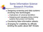 some information science research priorities
