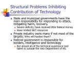 structural problems inhibiting contribution of technology