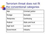 terrorism threat does not fit the conventional categories