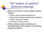 the system of systems technical challenge