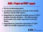 asn 1 project and itu t support