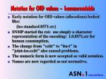 notation for oid values human readable