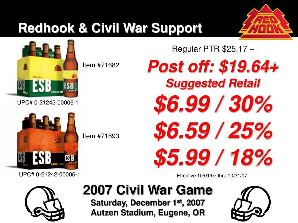 Redhook & Civil War Support