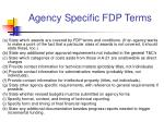 agency specific fdp terms8