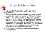 expanded authorities15