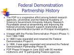federal demonstration partnership history