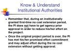 know understand institutional authorities19