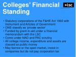 colleges financial standing