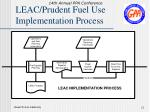 leac prudent fuel use implementation process