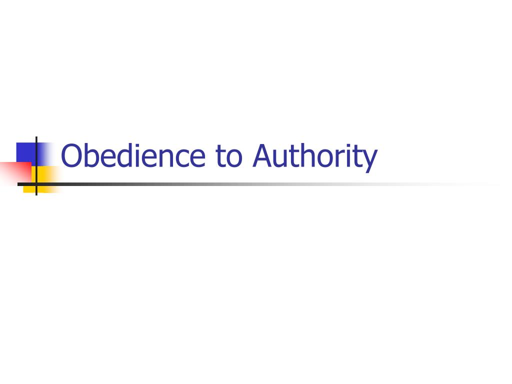 obedience to authority l.