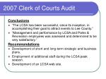 2007 clerk of courts audit