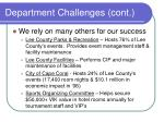 department challenges cont