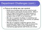 department challenges cont1