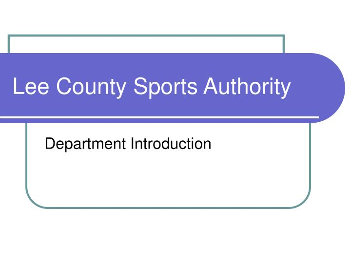 lee county sports authority n.