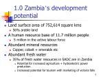 1 0 zambia s development potential