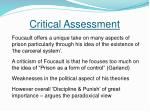 critical assessment