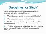 guidelines for study