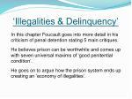 illegalities delinquency