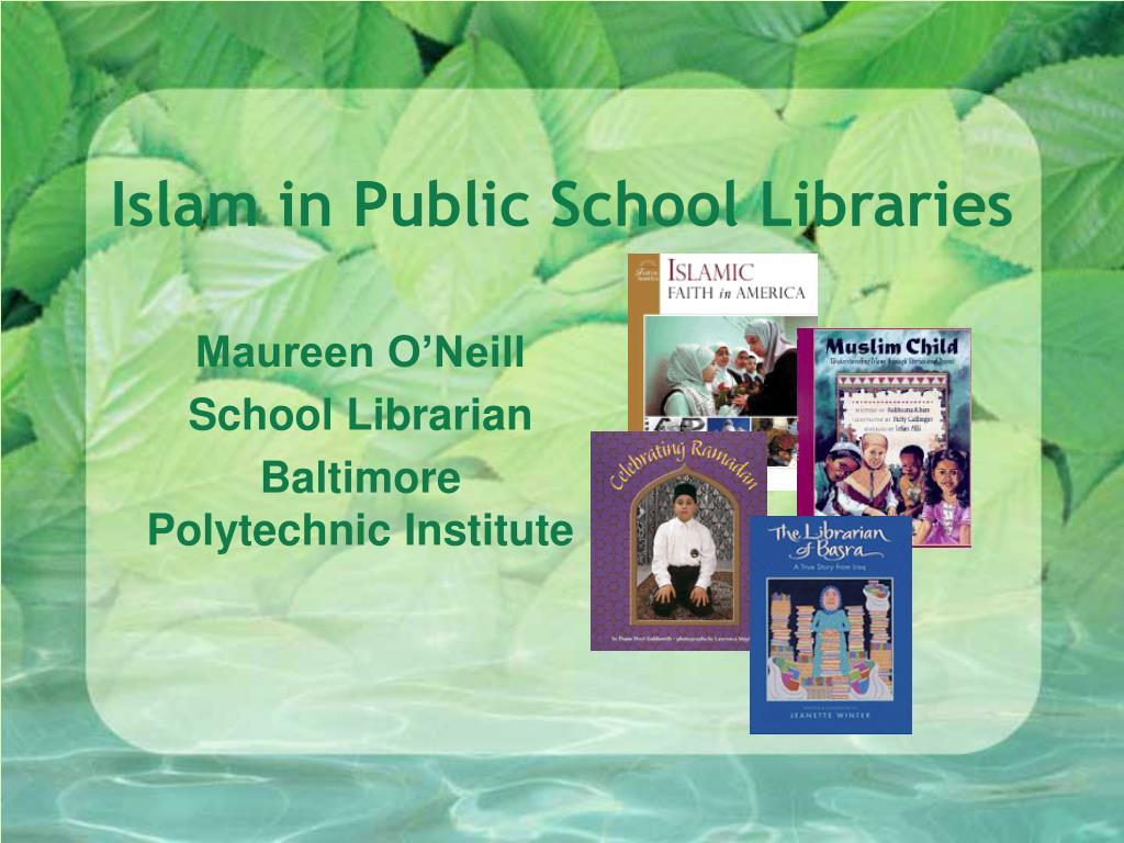 islam in public school libraries l.