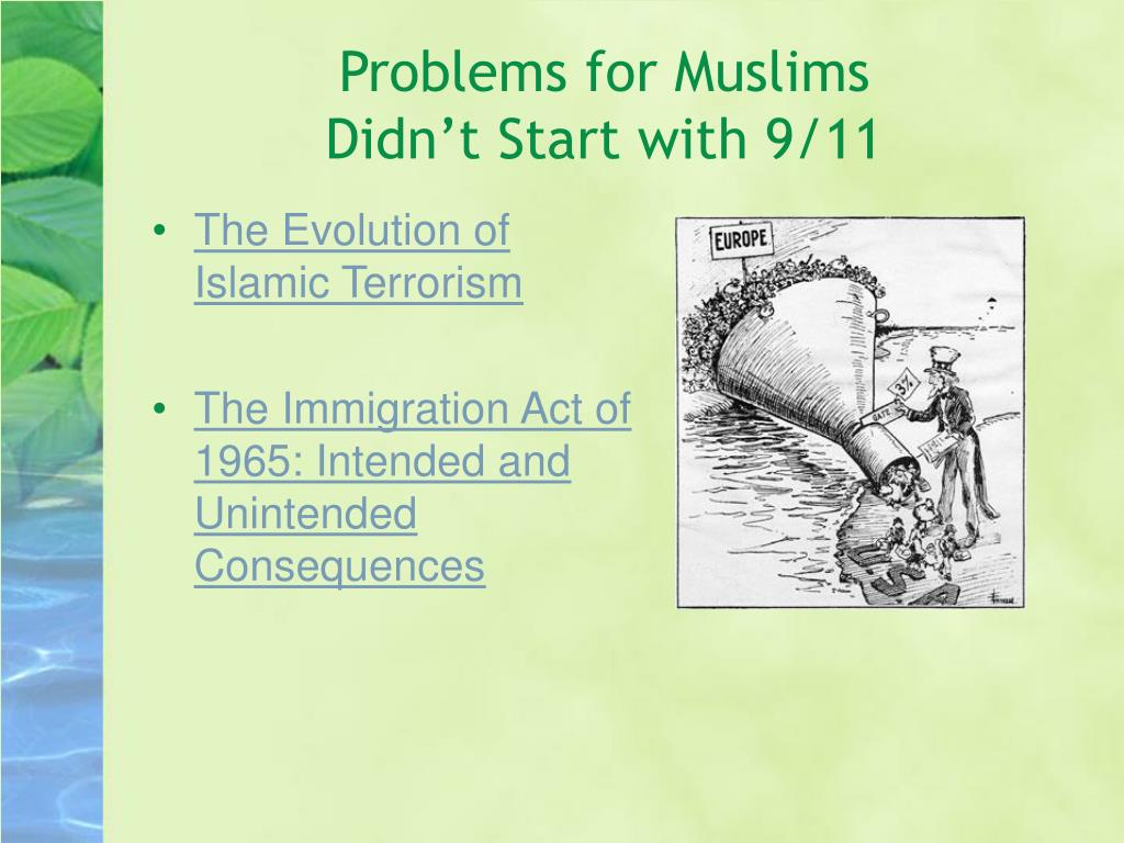 Problems for Muslims