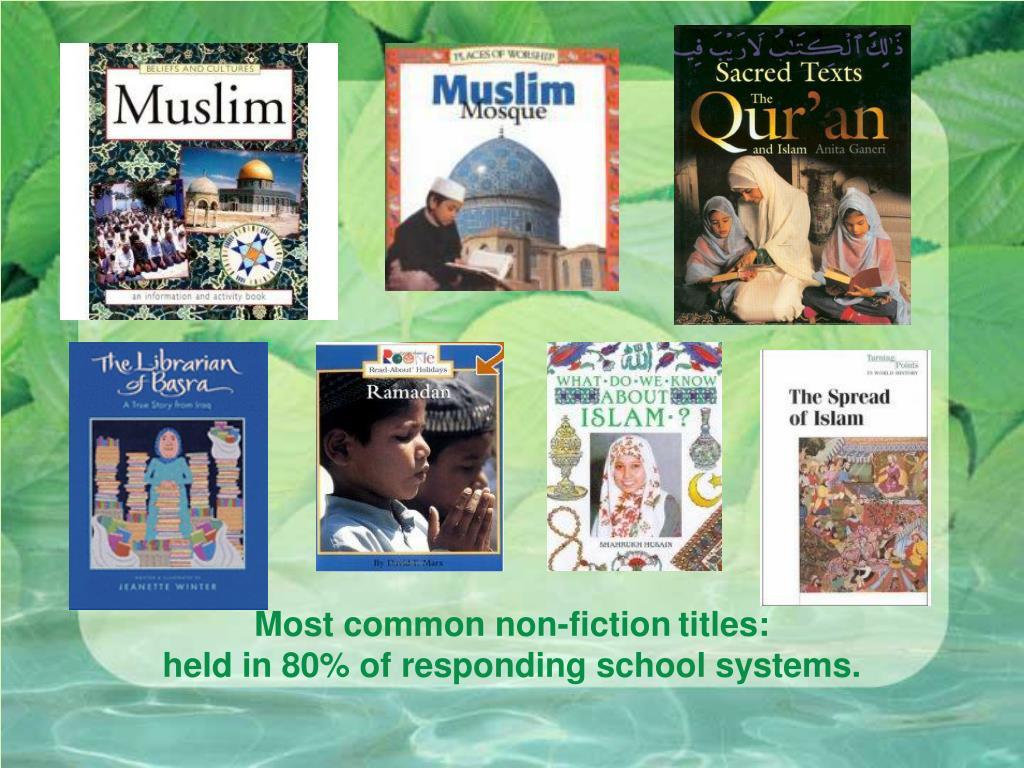Most common non-fiction