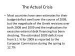 the actual crisis
