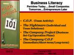 business literacy part time today small companies tomorrow entrepreneurs later