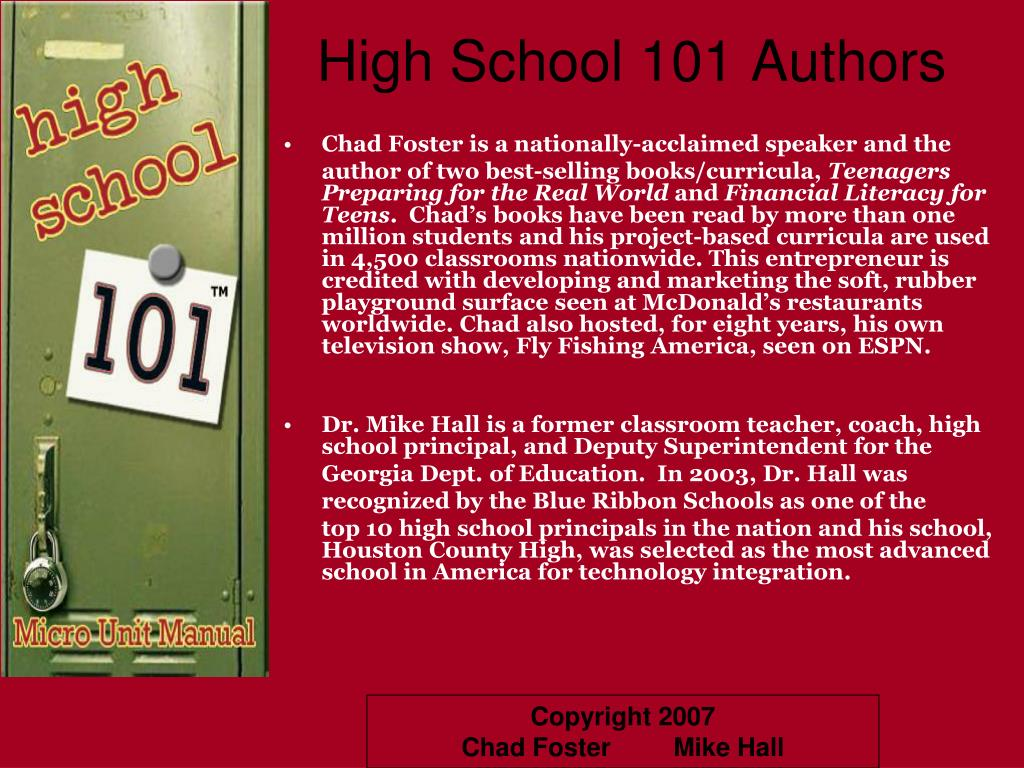 high school 101 authors l.