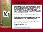 high school 101 data