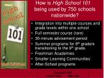 how is high school 101 being used by 750 schools nationwide