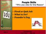 people skills 70 lose jobs for one reason