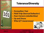tolerance diversity