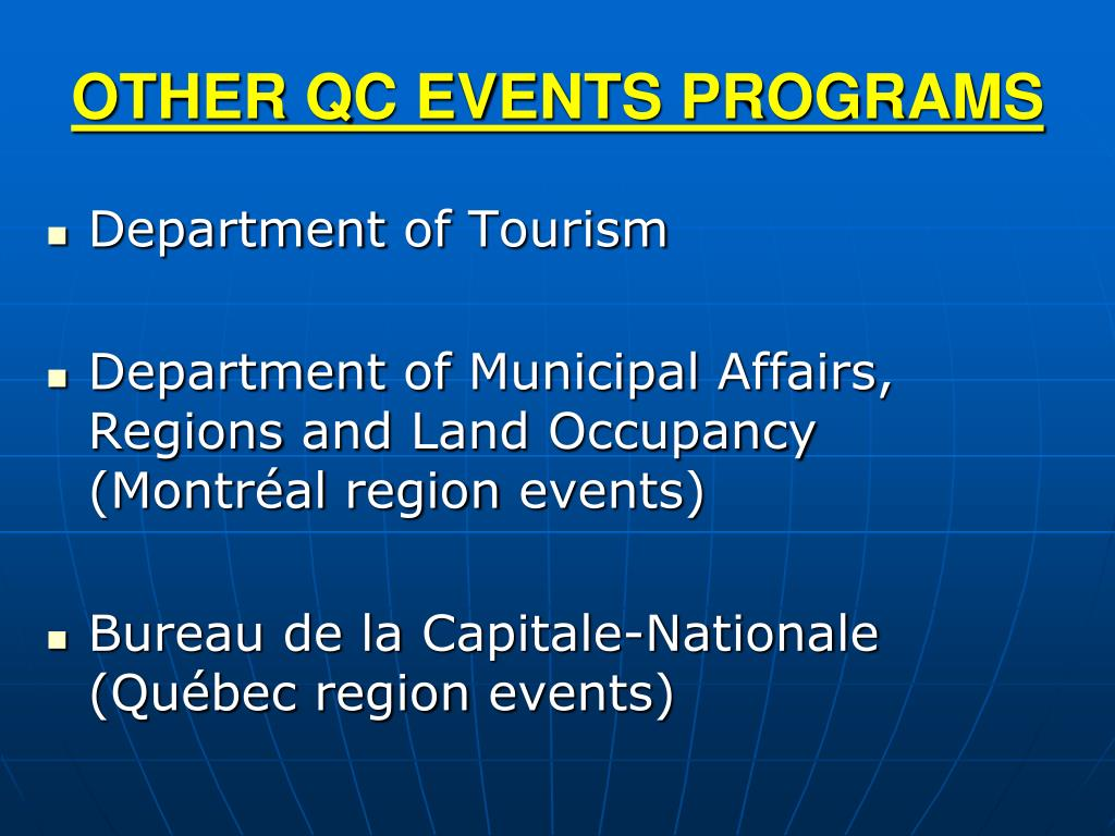 OTHER QC EVENTS PROGRAMS