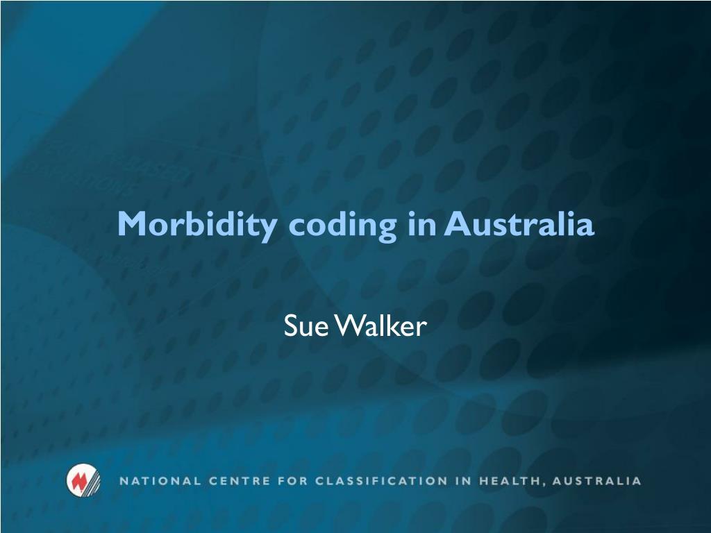 morbidity coding in australia l.