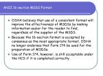 ansi 16 section msds format