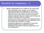 checklist for compliance 3