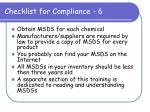 checklist for compliance 6