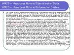 hmig hazardous material identification guide hmis hazardous material information system