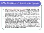 nfpa 704 hazard identification system