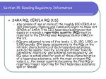 section 15 reading regulatory information72